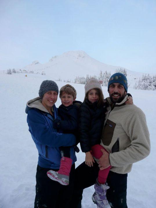 The Nada family enjoying Mount Hood